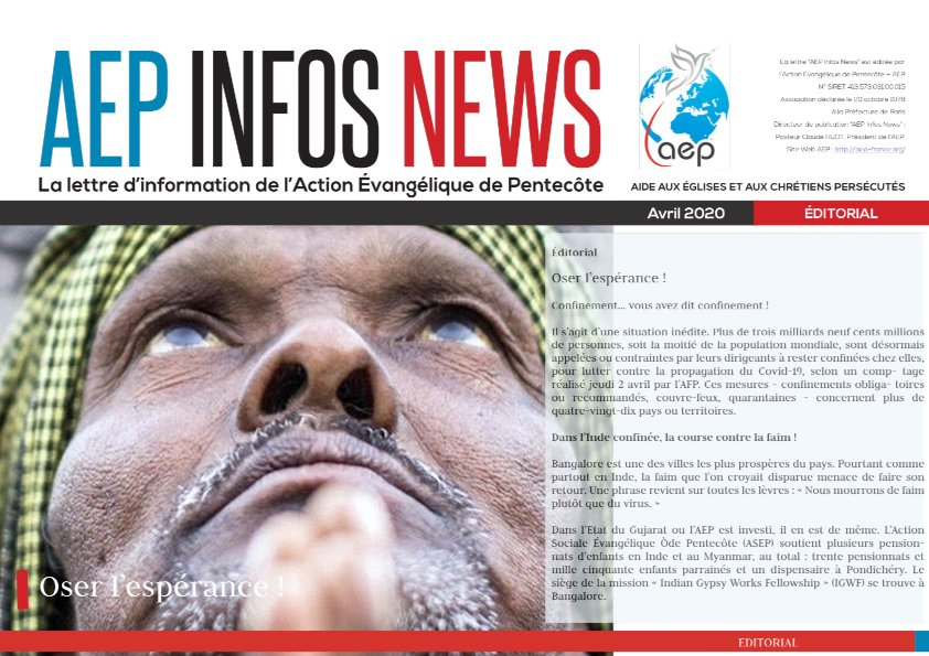 AEP Infos News avril 2020